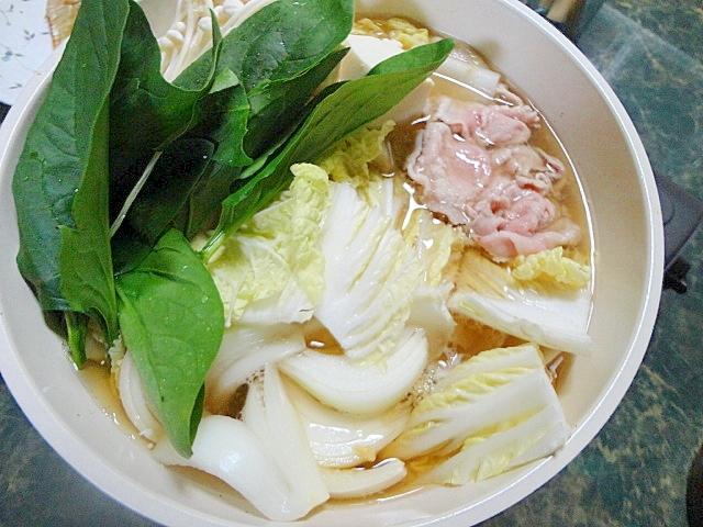 6. ほうれん草と豚しゃぶのポパイ鍋