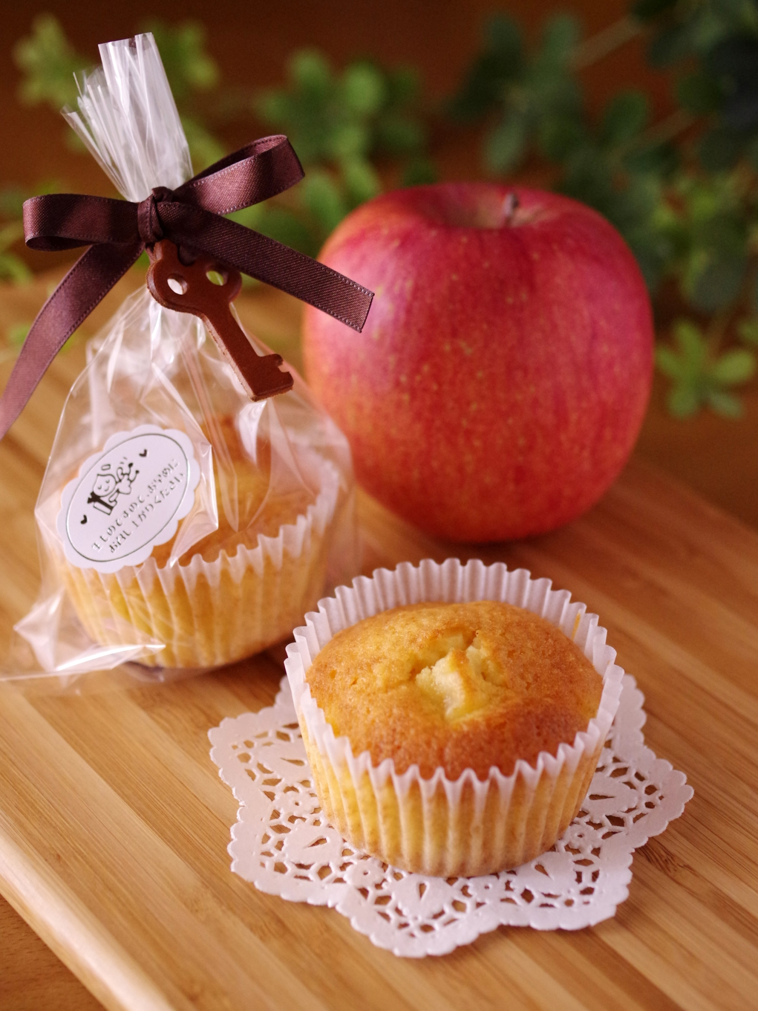 2. りんごのカップケーキ