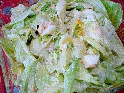 「鮭フレーク&味付けシジミ入りレタスサラダ」