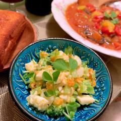 ブロッコリーとゆで卵のおつまみサラダ