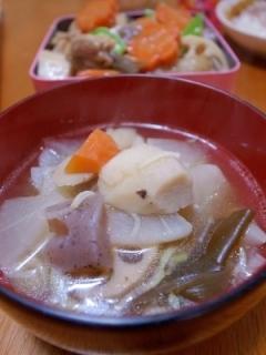 おせち料理(煮しめ)リメイク☆簡単けんちん汁♪