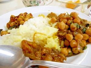 おつまみにもなるヒヨコ豆の炒め物