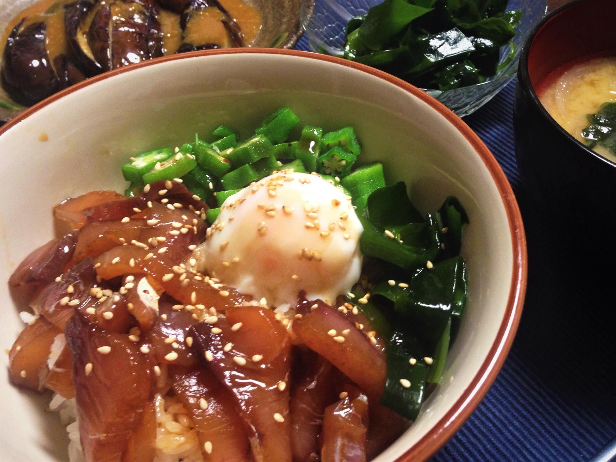 12. 麺つゆでハマチのづけ丼