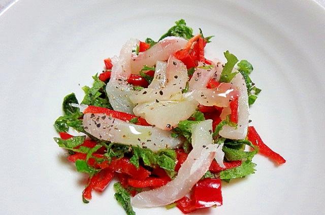 香味野菜と鯛のカルパッチョ