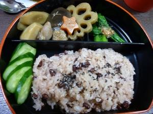 お豆たっぷりお赤飯☆