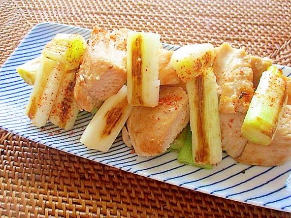 フライパンで簡単!鷄むね肉と長ネギのねぎま風(塩) レシピ・作り方 by はぁぽじ 楽天レシピ