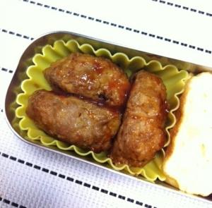 お弁当!冷たくても美味しい豆腐ハンバーグ☆