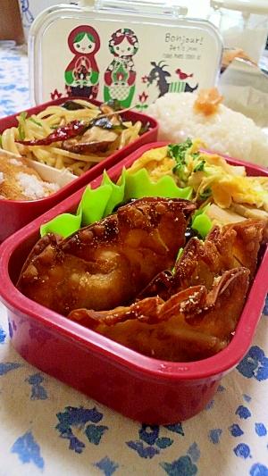 高野豆腐の玉子とじと揚げ餃子のお弁当
