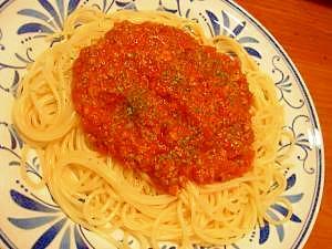 トマト缶で簡単☆ひき肉パスタ
