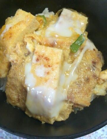 高野豆腐で☆ヘルシーカツ丼