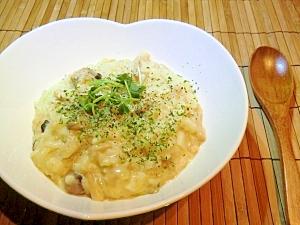 ヘルシーきのこチーズ豆乳玄米リゾット