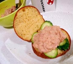 【糖質制限】ふわふわ大豆パンで梅マヨツナサンド