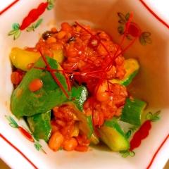 胡瓜と雑穀の旨辛コチュジャン炒め