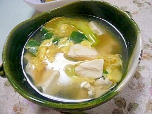 かきたま入り豆腐のスープ