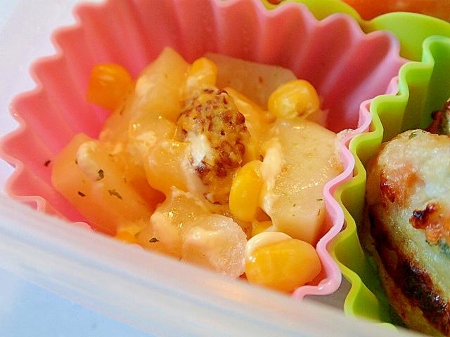 お弁当 レンジでメークインとコーンとチーズのカップ レシピ・作り方 by ぷ〜みぃまま♪ 楽天レシピ