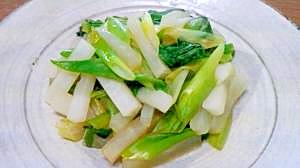わけぎと小松菜と大根のオイスターサラダ