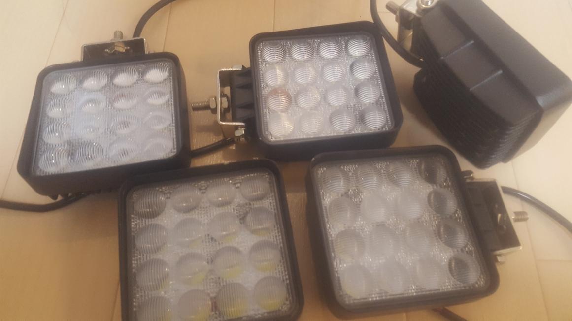 【楽天市場】偽物にご注意 Led作業灯 魚眼プロジェクター付 Ledワークライト 48w 5500lm明るさ30