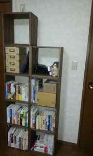 【増税前に追加購入しました】 増税前ということで購入しました。初めて縦に5個を積みましたが、圧迫感もなく満足しています。小物をもう少し上手に収納すべく試行錯誤してみます。【子供部屋 無垢 木製 収納 ラック キューブ カラーボックス 本棚 絵本 おもちゃ 収納 図鑑 大型本】