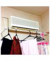 「【室内物干し】【エアコン物干し】【加湿器】花粉症対策にもなるエアコン乾燥洗濯物干し!エアコンハンガー室内 物干し♪」の商品レビュー詳細を見る