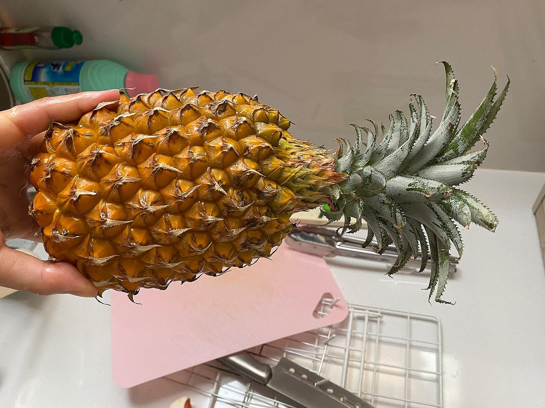 痛い パイナップル 舌