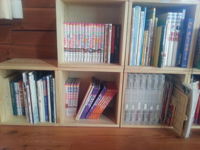 【追加購入です。】 2年前に子供の絵本の本棚として購入しました。2年経過しても満足だったので今回本棚を買う際に他のお店は見ることなくこちらで決めていました。使いやすく、家具として主張しすぎない点が気に入っています。【子供部屋 無垢 木製 収納 ラック キューブ カラーボックス 本棚 絵本 おもちゃ 収納 図鑑 大型本】