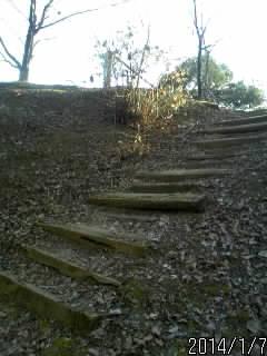 土塁の階段
