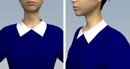 プリンセスラインのワンピース2のシャツカラー1