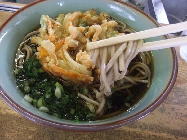 桃中軒@三島駅の海老と野菜のかきあげそば2