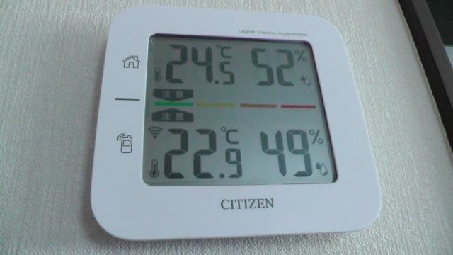 室内外の温度 湿度