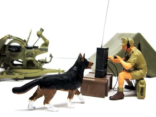 DAK(ドイツアフリカ軍団)通信兵と部隊のマスコット犬.jpg