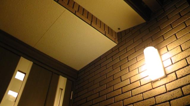玄関ポーチの軒下にできた蜂の巣