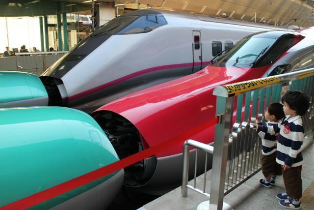 東京駅 連結 新幹線が 花盛り!2