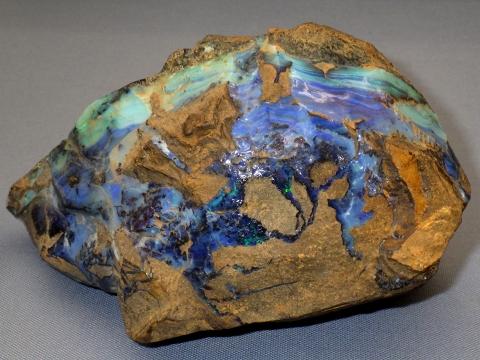 大阪市立自然史博物館2017年4月下旬5 オパール(蛋白石)(Opal) オーストラリア