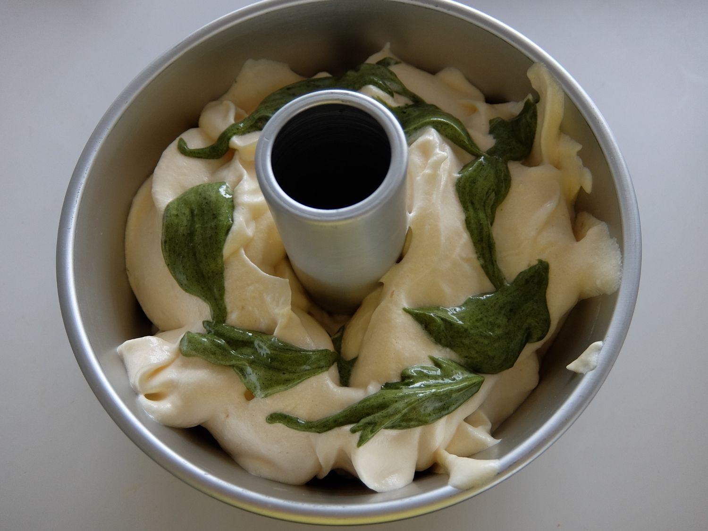マーブル抹茶シフォンケーキ焼きました