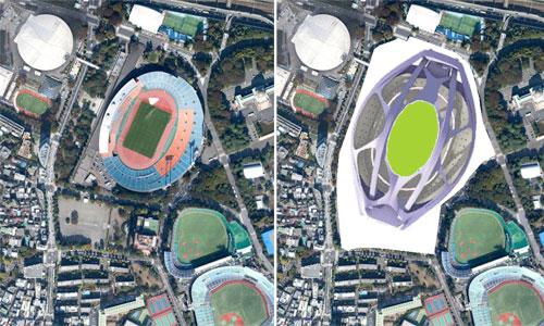 新国立競技場完成予想図