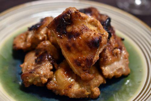 みりん粕漬けの鶏のグリル