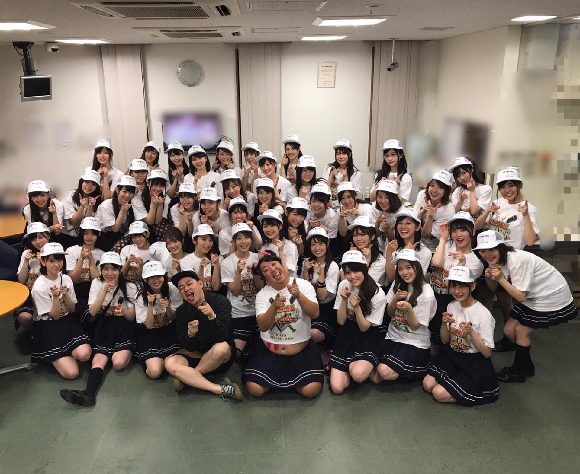 乃木坂46♪乃木坂×バナナマン「ホールインワンキャップ」全員集合写真!2017.7.2