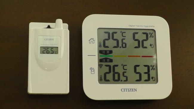 コードレス温湿度計THD501