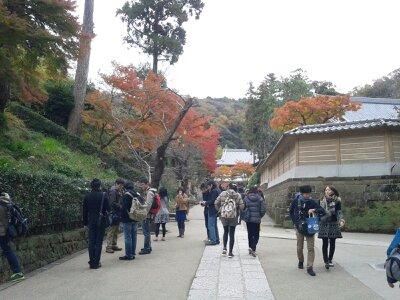 北鎌倉円覚寺坂道前2012年12月