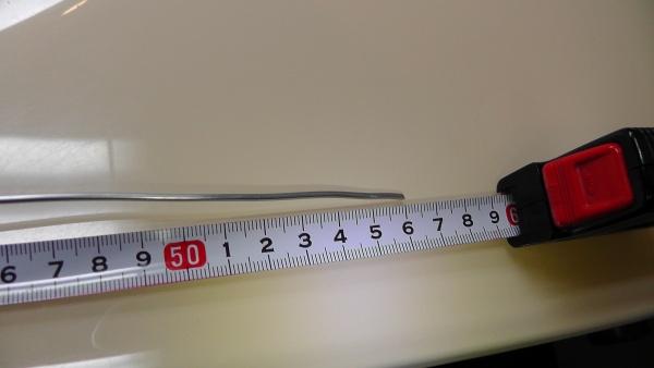 どこまで針金が入ったか測定