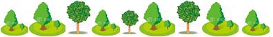 植木の羅列