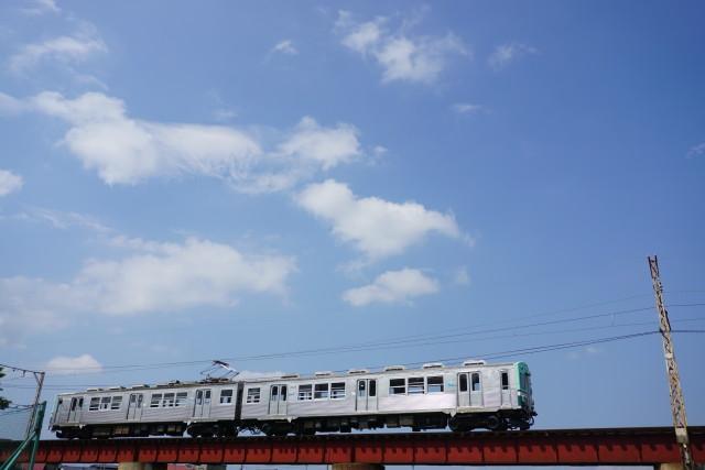 残暑の 弘南鉄道 大鰐線5