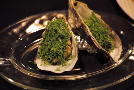 牡蠣の冷製ルッコラと共に.JPG