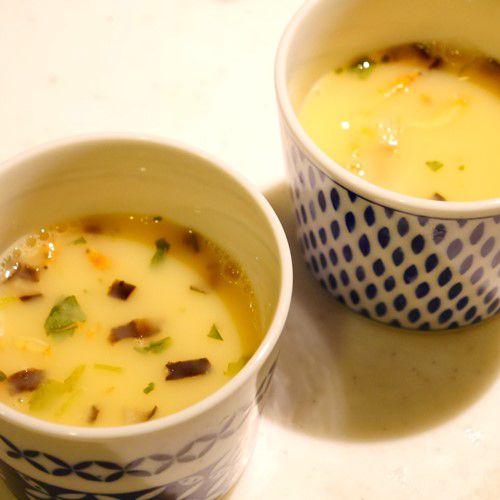 茶碗蒸しの素_レンジ加熱前