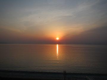 別府湾日の出
