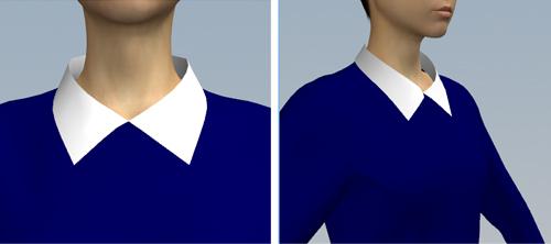 プリンセスラインのワンピース2のシャツカラー2