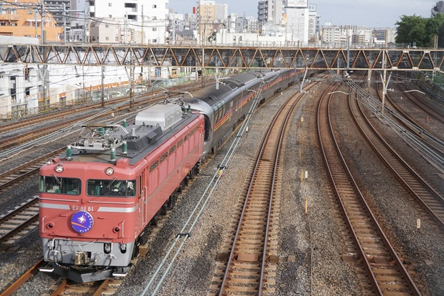EF81 81牽引 カシオペア紀行盛岡行き & 日暮里 界隈