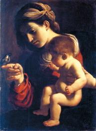 グエルチーノ聖母子と雀
