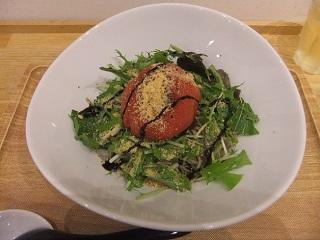 BWCAFE@大久保の完熟焼きトマトの和え蕎麦