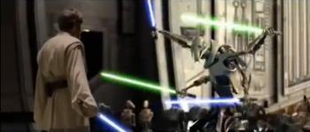 General Grievous Vs. Obi-Wan Kenobi。